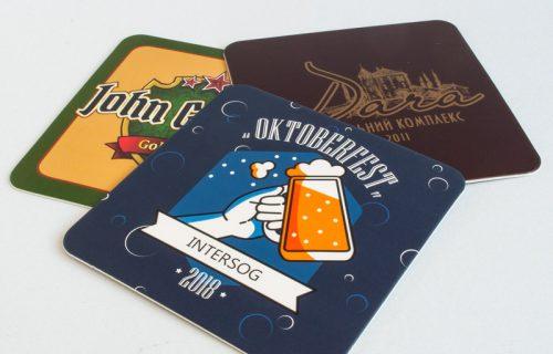 Изготовление на заказ, печать пивных подставок - компания ВИК принт Украина